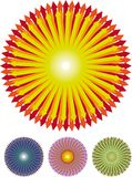 Setas redondas Fotografia de Stock Royalty Free