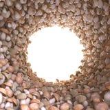 Setas redondas del túnel Foto de archivo libre de regalías