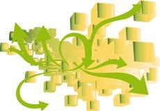 Setas verdes Fotografia de Stock