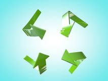 Setas verdes Fotos de Stock Royalty Free