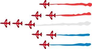 Setas vermelhas ilustração stock