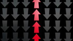 Setas vermelhas e pretas abstratas ilustração do vetor