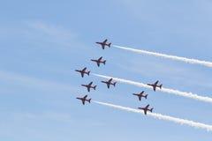 Setas vermelhas em Gales Airshow nacional 2017 Imagem de Stock Royalty Free