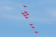 Setas vermelhas em Gales Airshow nacional 2017 Foto de Stock