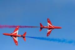 Setas vermelhas no festival aéreo 2017 de Kaivopuisto Imagem de Stock