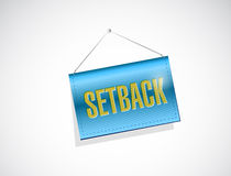 Setback banner sign illustration design Stock Photo