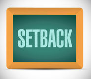 Setback board sign illustration design Stock Images