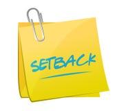 Setback memo post illustration design Stock Images