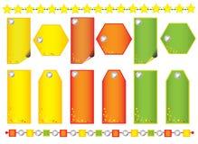 Установите ярлыки рождества Стоковое Изображение RF