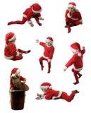 Sete ajudantes de Santa Imagens de Stock Royalty Free