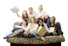 Sete amigos Imagem de Stock Royalty Free