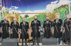 sete cantores e música polifônica Georgian Fotos de Stock