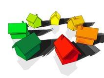 Sete casas Fotos de Stock