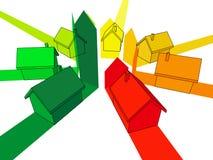 Sete casas Imagens de Stock