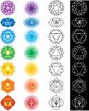 Sete chakras Fotografia de Stock Royalty Free