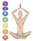 Sete chakras Imagem de Stock