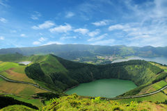 Sete Cidades,亚速尔群岛,葡萄牙欧洲美丽的湖  库存图片