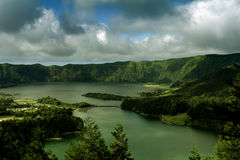 Sete cidades. Azores lake of Sete Cidades in the island of S. Miguel, Portugal Stock Photo