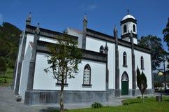 Sao Nicolau Church, Sete Cidades, Sao Miguel. Sete Cidades beautiful village church in Sao Miguel, Azores, Portugal royalty free stock photo