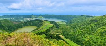 Sete Cidades on the island of Sao Miguel in the Azores, Portugal Royalty Free Stock Photo