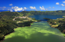 Sete Cidades krajobraz Zdjęcie Royalty Free