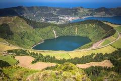 Sete Cidades Lagoa Ponta Delgada AZORES Sete Cidades is a civil Royalty Free Stock Image