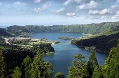 Sete Cidades lagoon. Near Ponta Delgada, S. Miguel island Azores stock photos