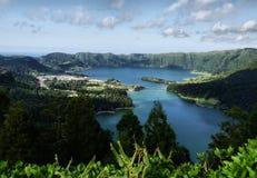 Sete Cidades lagoon. Near Ponta Delgada, S. Miguel island Azores royalty free stock images