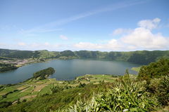 Sete Cidades Lagoon - Azores. Sete Cidades Lagoon, Ponta Delgada's Landmark - Azores Royalty Free Stock Photo