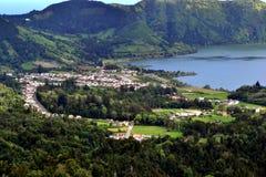 Sete Cidades lagoon, Sao Miguel, Azores, Portugal royalty free stock image