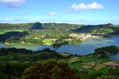 Sete Cidades lagoon, Sao Miguel, Azores, Portugal. Sete Cidades lagoon, Sao Miguel, Azores stock photography