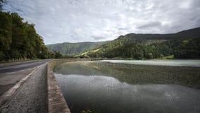 Sete Cidades - Lagune der sieben Städte - Azoren Portugal stockfotografie