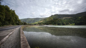 Sete Cidades - Lagune van de Zeven Steden - de Azoren Portugal stock fotografie