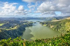 Sete Cidades lake, Sao Miguel island, Azores, Portugal stock photos