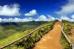 Sete Cidades landscape. On Sao Miguel Island, Azores, Europe Royalty Free Stock Photo