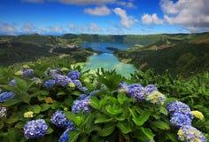 Sete Cidades landscape. In Sao Miguel island, Azores, Europe stock photos