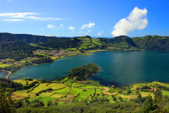 Sete Cidades landscape. In Sao Miguel island, Azores, Europe Royalty Free Stock Images