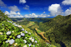Sete Cidades landscape. In Sao Miguel island, Azores, Europe Royalty Free Stock Photo