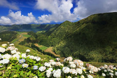 Sete Cidades landscape. In Sao Miguel island, Azores, Europe Stock Images