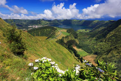 Sete Cidades landscape. In Sao Miguel island, Azores, Europe Royalty Free Stock Image