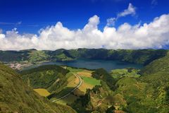 Sete Cidades landscape. On Sao Miguel Island, Azores, Europe Royalty Free Stock Image