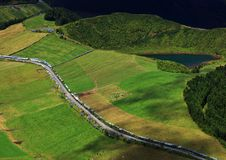 Sete Cidades landscape. On Sao Miguel Island, Azores, Europe Royalty Free Stock Photography