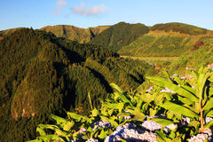 Sete Cidades landscape. In Sao Miguel island, Azores, Portugal, Europe Royalty Free Stock Images