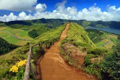 Sete Cidades landscape. On Sao Miguel Island, Azores, Europe Stock Image