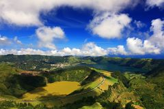 Sete Cidades landscape. On Sao Miguel Island, Azores, Europe Stock Images