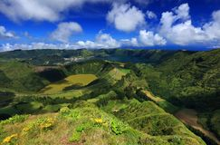 Sete Cidades landscape. On Sao Miguel Island, Azores, Europe Stock Photo