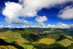 Sete Cidades landscape. On Sao Miguel Island, Azores, Europe Royalty Free Stock Images