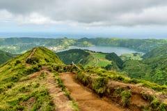 Sete Cidades na ilha do Sao Miguel nos Açores, Portugal imagem de stock royalty free