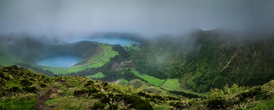 Sete Cidades twin crater lakes Stock Image