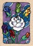 Sete das rosas ilustração royalty free